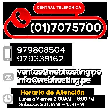 Contactar a Web Hosting Peru